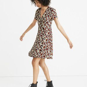 Madewell Button-Wrap Dress in Viola Floral Size 00